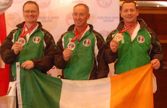 SKIF Ireland Masters Team Kata won Bronze at the 12th SKIF World Championships in Jakarta Indonesia in August 2016, the team consisted of Ray Payne, Martin O Keeffe and Adrian Cotter