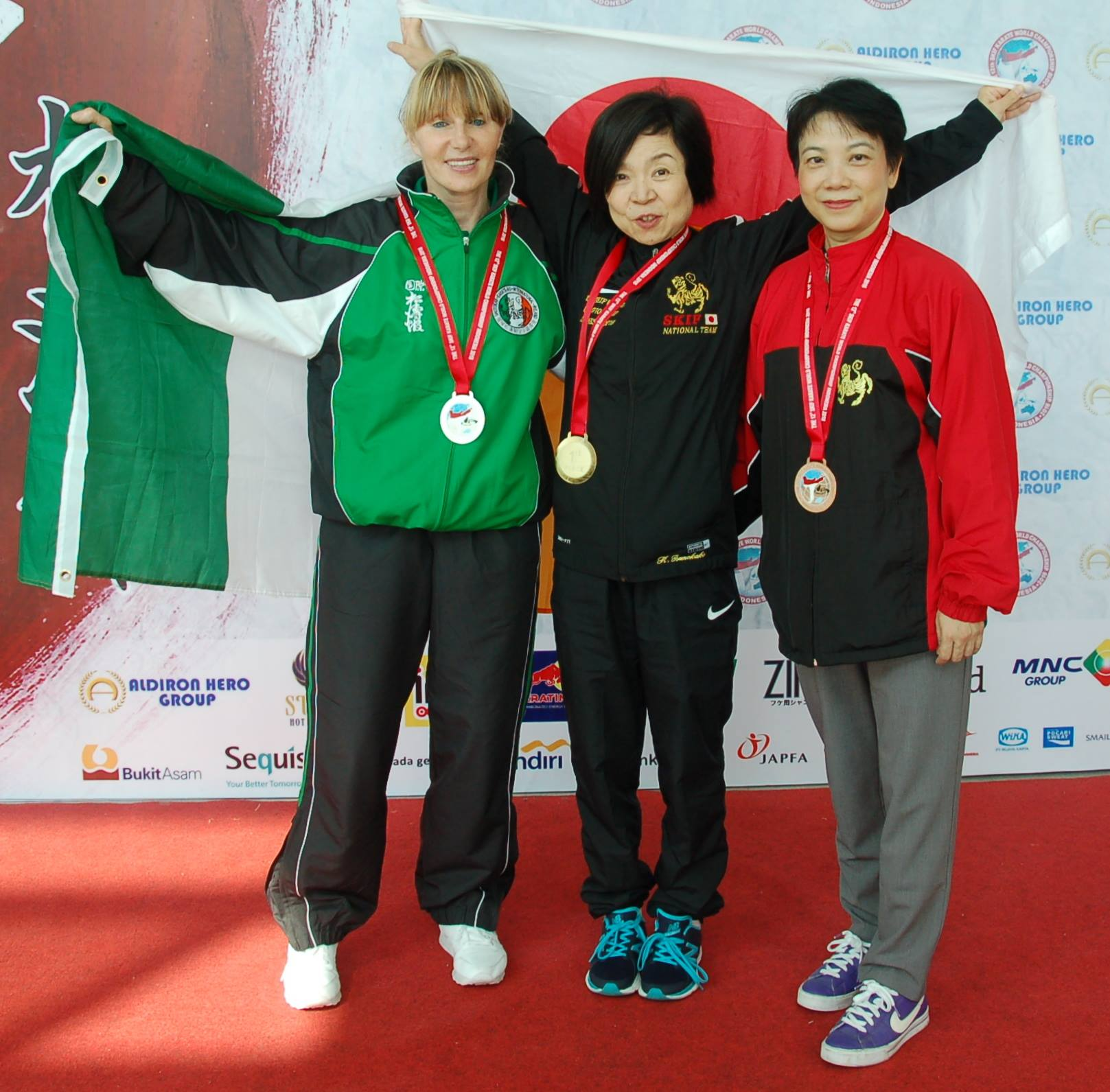 Jacqui O Shea won Silver in Kata at the 12th SKIF World Championships in Jakarta Indonesia in August 2016